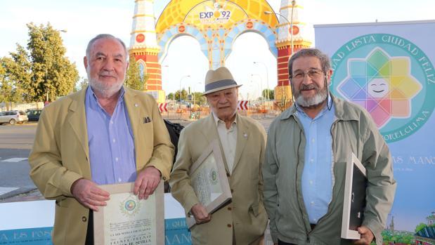 Jaime López de Asiaín, Ramón Velázquez Vil y Valeriano Ruiz Hernández