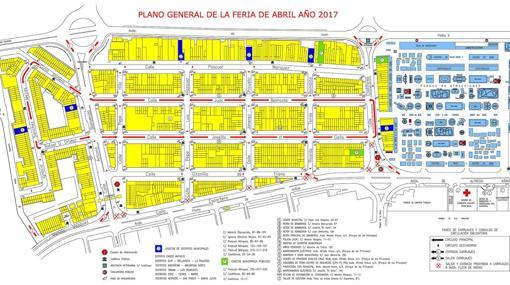 Plano de la Feria de Abril de Sevilla