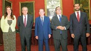 Irene Suárez, Javier Benjumea, Emilio de Llera, Vicente Guzmán y José Miguel Martín