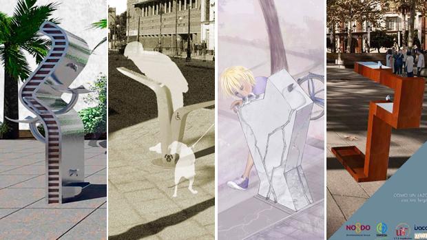 Los cuatro modelos de fuentes urbanas finalistas
