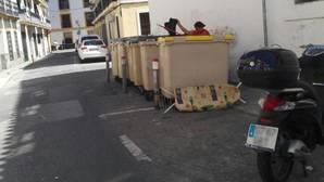Contenedores en la calle Teodosio