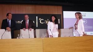 José Ramón Benítez, Fernando Rodríguez Villalobos, Cristina López y Concha Cobreros