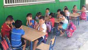 Más de 5.000 firmas piden a la Junta aire acondicionado ya en los colegios