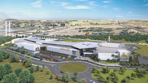 Recreación virtual del futuro centro comercial de Palmas Altas