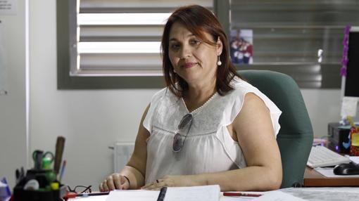 La orientadora Pilar Rodríguez posa en su despacho