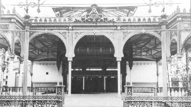 Las casetas del Mercantil en la Feria de Sevilla se modificaban año a año en sus primeras etapas