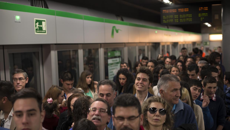 El metro de sevilla roza los 9 millones de usuarios en el - El tiempo dos hermanas sevilla ...