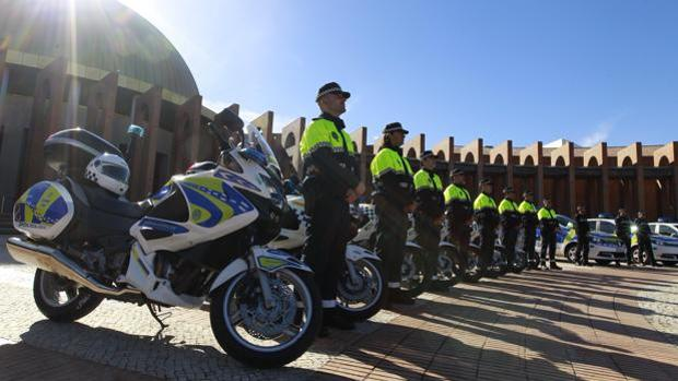 Agentes en formación en uno de los actos por el Día de la Policía que se celebra en el mes de noviembre.