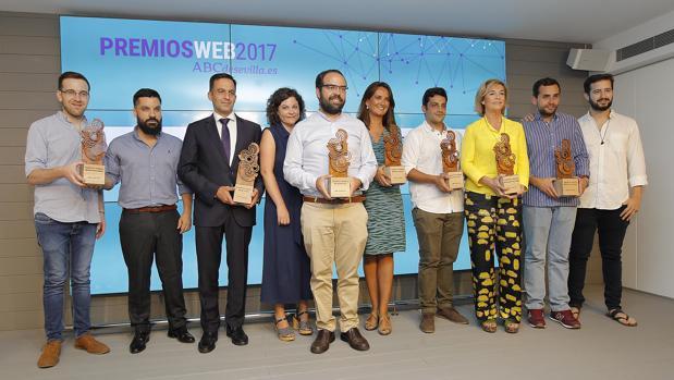 Los ganadores de la sexta edición de los Premios Web de ABC de Sevilla