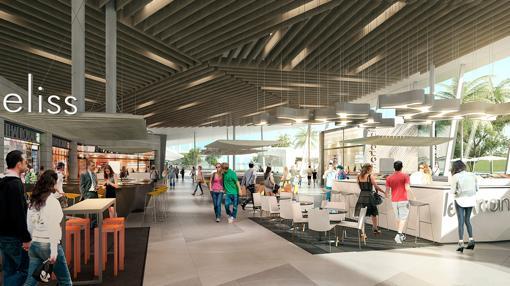 Recreación del futuro centro comercial de Palmas Altas