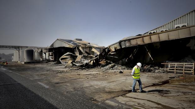 eEstado en el que quedaron las instalaciones tras el incendio