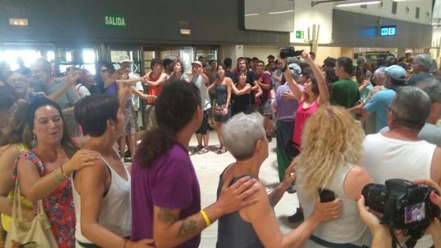 Protesta en el Aeropuerto de San Pablo