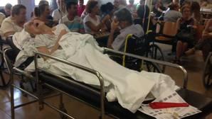 Claudia en las urgencias del Valme a donde llegó deshidratada