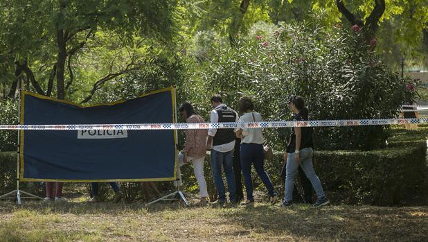 El cuerpo fue encontrado en una zona delimitada por arbustos en el Parque Amate