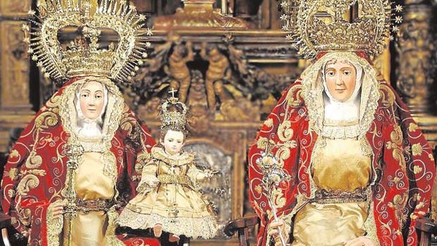 Composición de Santa Ana, la Virgen y la crónica de la misión de 1757