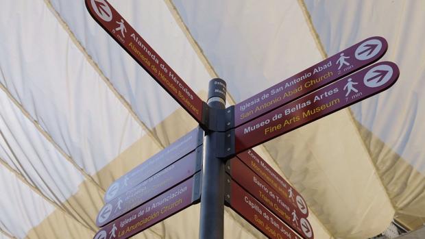 Las nuevas señales que identifican los puntos de interés turístico