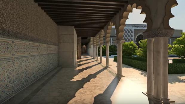 Recreación virtual del proyecto de templo musulmán que quieren levantar en Sevilla