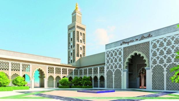 Imagen virtual del proyecto de gran mezquita que la comunidad islámica quiere levantar en la capital