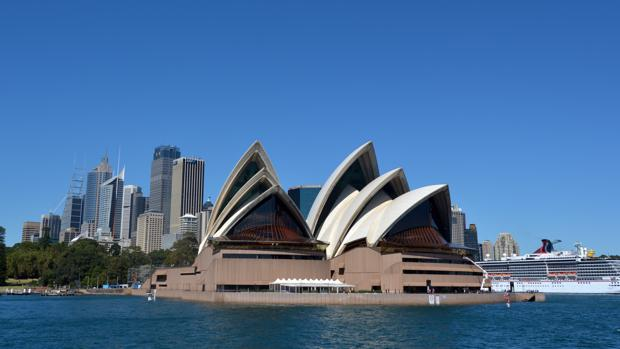 Vista panorámica de la Ópera de Sídney