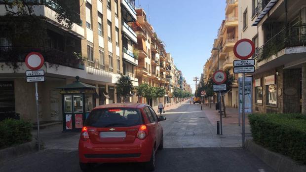 Acceso a la calle Asunción desde la plaza de Cuba