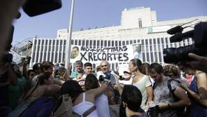 Manifestación esta mañana en Valme VANESSA GÓMEZ