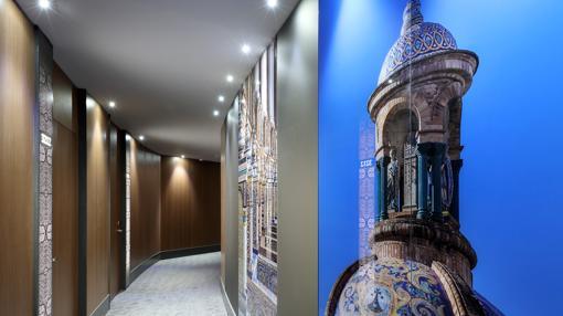 Pasillo del hotel Eurostar Torre Sevilla