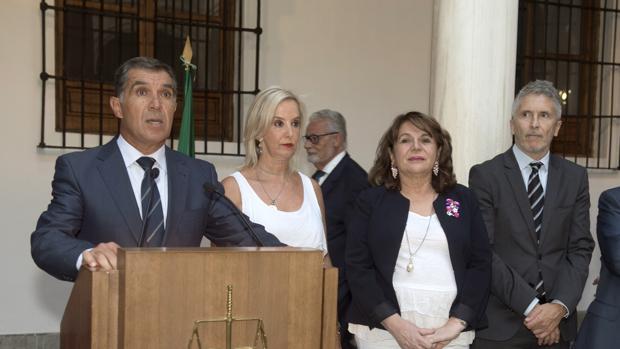 Lorenzo del Río durante la apertura del año judicial