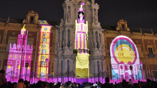 El Ayuntamiento de Sevilla quita el mapping de San Telmo por seguridad