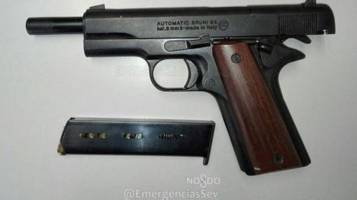 Arma utilizada en el atraco