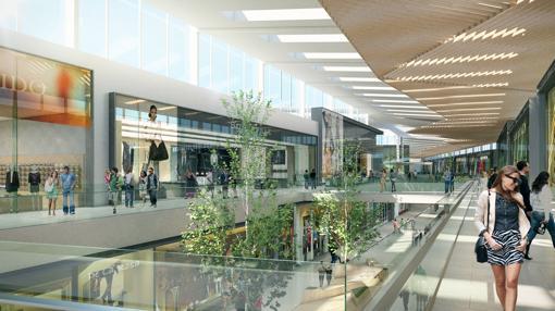 El centro comercial Palmas Altas tendrá más de 200 tiendas, 40 restaurantes y un lago artificial de 6.000 metros cuadrados junto a la SE-30 y el puerto de Sevilla