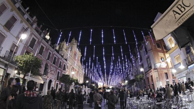 La plaza del Salvador es uno de los puntos que acaparan más atención en Navidad