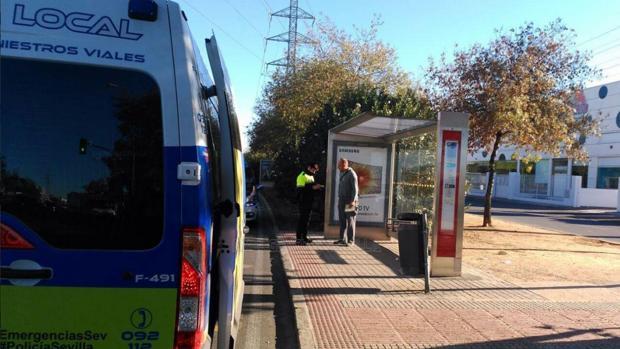 La Policía Local de Sevilla investigando las causas