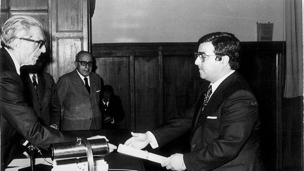 Moreno Andrade recibió el despacho de juez del entonces ministro, Antonio Garrigues
