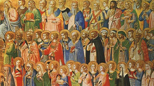 Detalle de «Los precursores de Cristo con los santos y mártires», de Fra Angélico (1423-24)