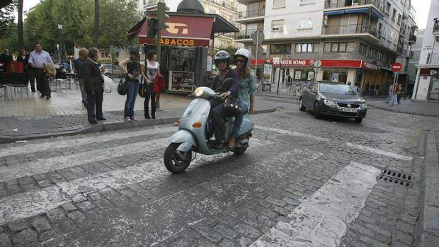 Cera en la calle Zaragoza, en una imagen de archivo