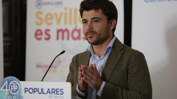 El portavoz municipal del PP, Beltrán Pérez