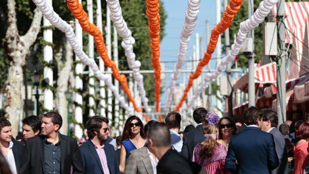 Aspecto de las calles del real en la última Feria de Abril