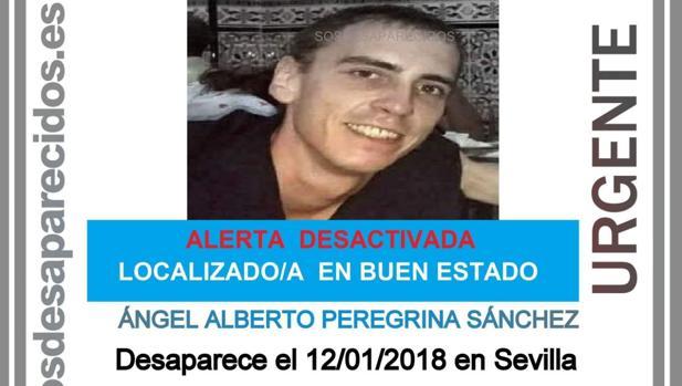 Cartel difundido por SOS Desaparecidos