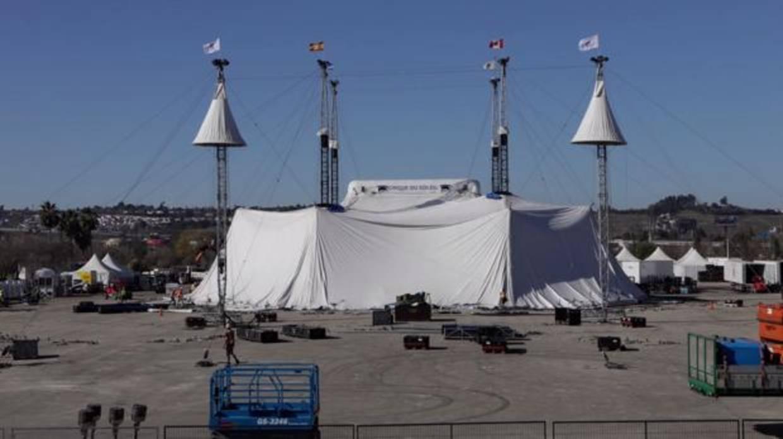 El impresionante montaje del circo del sol - El tiempo en dos hermanas sevilla por horas ...