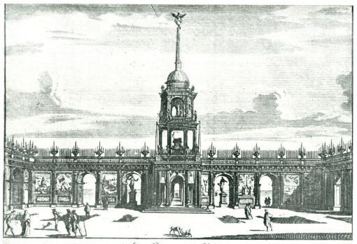 Túmulo en honor de Felipe II erigido en Sevilla a su muerte
