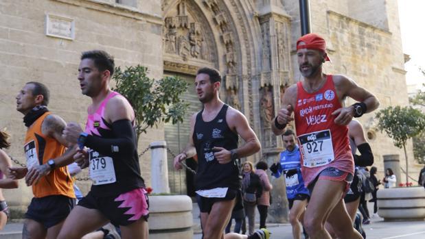 Corredores durante la Maratón del año pasado
