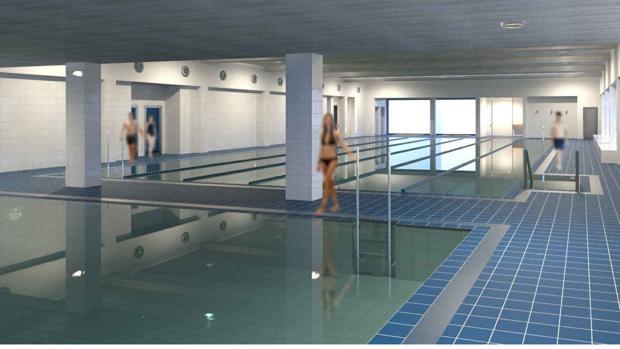 Piscinas climatizadas pistas de p del sala fitness for Piscinas imd sevilla