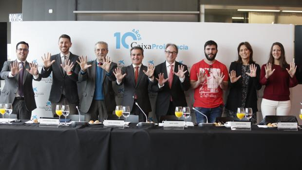 Responsables de CaixaProinfancia este miércoles en Sevilla