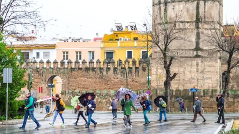 El tiempo en sevilla la lluvia no cesar durante toda la semana en la capital hispalense - El tiempo en dos hermanas sevilla ...