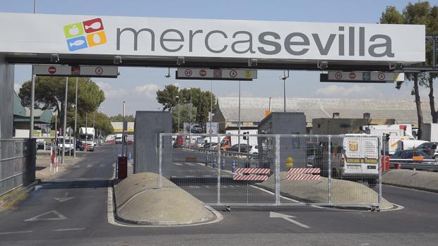 Entrada al mercado central de abastecimiento de Sevilla
