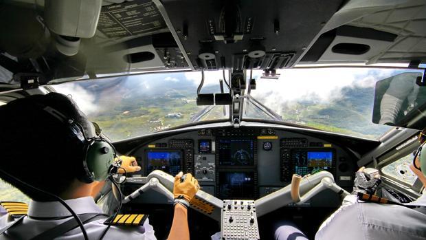 Imagen de unos pilotos en los cielos de Bari (Italia)