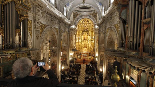 Inauguración de la iluminación de la parroquia de la Magadalena