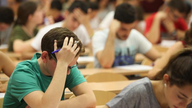 Los exámenes de selectivida ddel pasado año