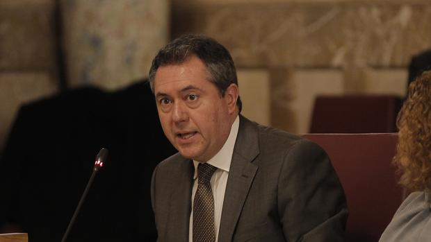El alcalde, Juan Espadas, en el Pleno de ayer