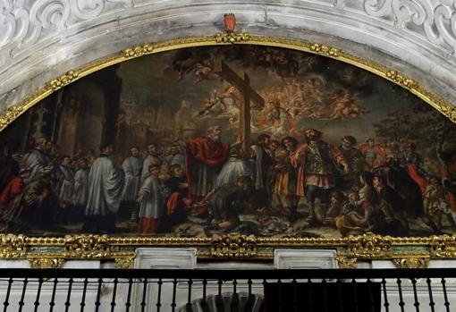 Detalle de «La exaltación de la cruz», de Valdés Leal